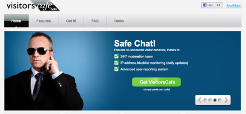 VisitorsCafe Safe Chat