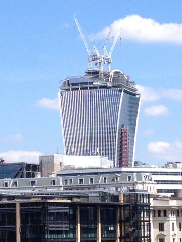 Walkie Talkie Building Under Construction