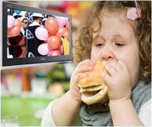 TV contributes to child obesity: image via medindia.net