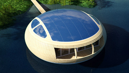The WaterNest Features a Solar Panel Roof: Renewable Energy
