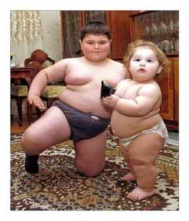 Obese before 3 years old: image via findmeacure.com