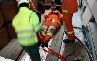 Rescue Workers And Patient
