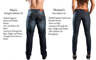 Men's And Women's Barbell Denim