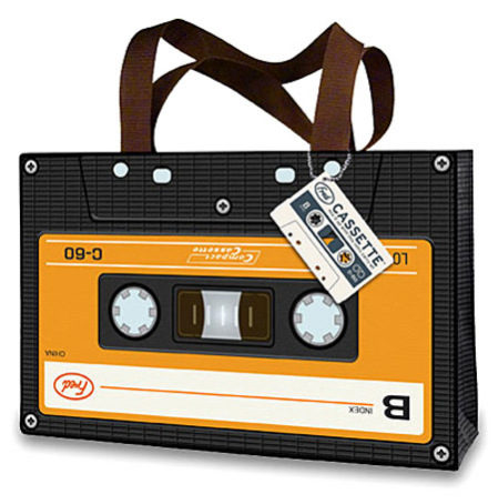 Cassette Shopping Bag: image via frugalshopping101.blogspot.com