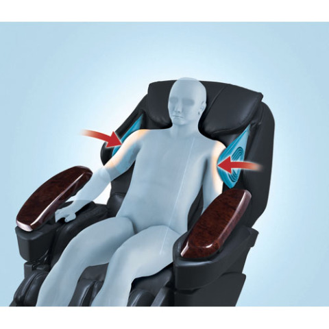 Rotating and pressurized airbags at your shoulders: © Panasonic