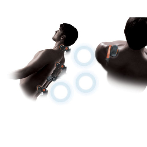 Your torso, neck and head held in anatomically correct position while heated rollers massage them: © Panasonic