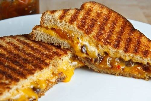The Bacon Jams in a Grilled Cheese Sandwich