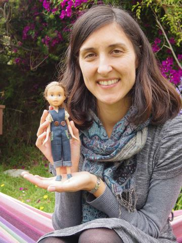 Sonia Singh and one of her Tree Change Dolls (Image via Facebook)