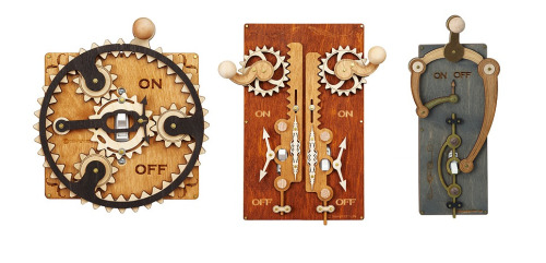 Retro Fit Your Home With Steampunk Light Switch Covers