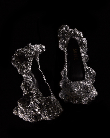 Meteorite Shoes (Photo by Petr Kerjci/Image via Studio Swine)