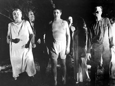 Zombies from Night of the Living Dead (Public Domain Image)