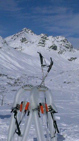 Rick Stafford's ultra-durable Airlite Inflatable Snowshoes won first place in the 2012 Arctic Innovation Competition.