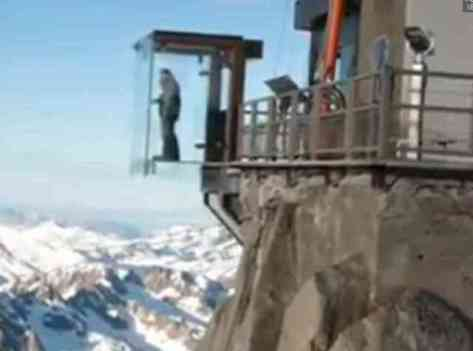 Glass Box Suspended Over The Alps (You Tube Image)