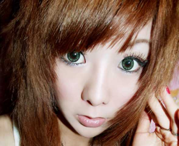 Girls Get The Anime Look With Extra Wide Contact Lenses