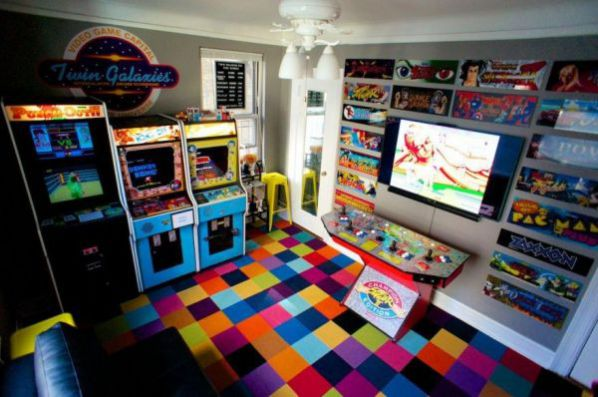Bedroom Turned Arcade