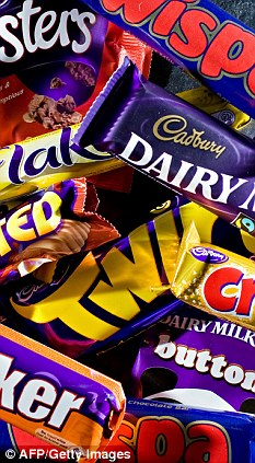 Cadbury Chocolate Bars: © AFP/Getty Images via DailyMail.co.uk