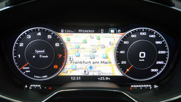 Audi Virtual Cockpit Ditches Analog Dash Gages For High Res Digital Instrument Cluster