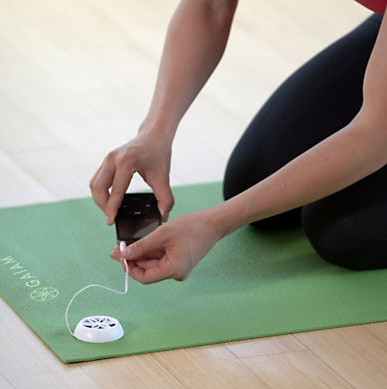 Gaiam Audio Yoga Mat - plug and play your favorite yogi