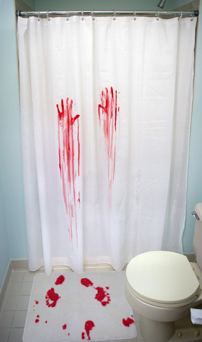 Bloody Shower Curtain & Bath Mat
