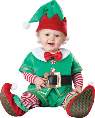 Tiny Christmas Elf Baby Outfit - So So Many Surprisingly Silly Christmas Outfits For The Entire Family