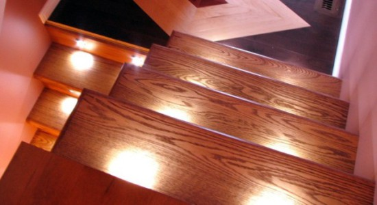 Model 2000 stair lighting, from above:  Reactive Lighting