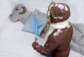 Smell like a dead tauntaun? I&#039;d rather kiss a Wookie!