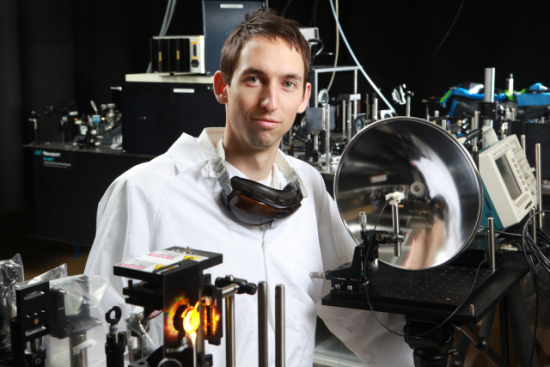 Benjamin Clough, winner of the 2011 Lemelson-MIT Student Prize for most promising invention: image credit: Rensselaer/Kris Qua