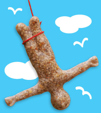 Bungee Bird Feeder: ©SUCK UK