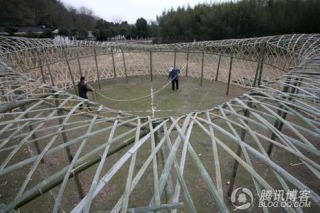 Bamboo version of Beijing's National Stadium