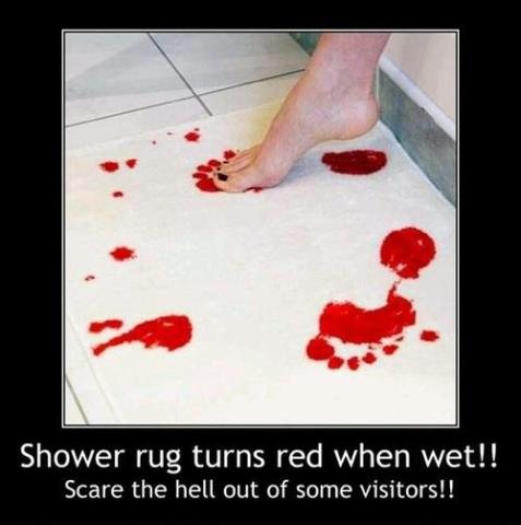 Bloody Bath Mat -- NOT Water Activated