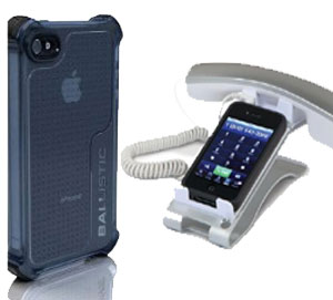 The iPhone 4 Ballistic Life Style Case & The iClooly iPhone Desktop Handset