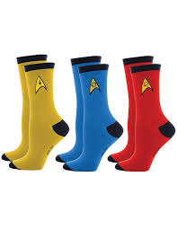 Star Trek Uniform Socks
