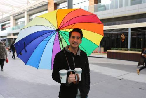 Morello -- The Umbrella Cup Holder (Image via Facebook)