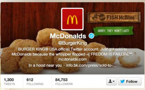 Burger King's Twitter Hacked