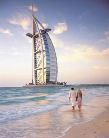 Beach and Burj al-Arab: From TravelingDubai.com