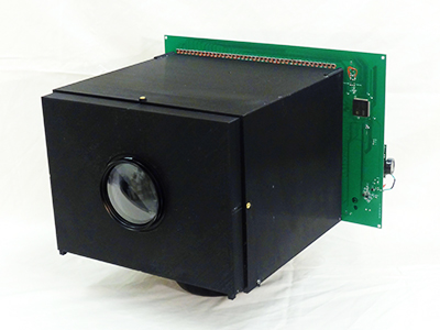 Self-powered camera: the pixels of this camera prototype not only measure incoming light, they also convert it to electrical power. Image from Columbia's Computer Vision Laboratory.
