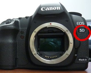 Internal microphone Canon 5D Mark II: The internal microphone on the 5D Mark II (red circle) is unimpressive at best
