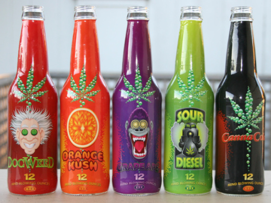 Canna Cola&#039;s new line of medical marijuana sodas:  Canna Cola