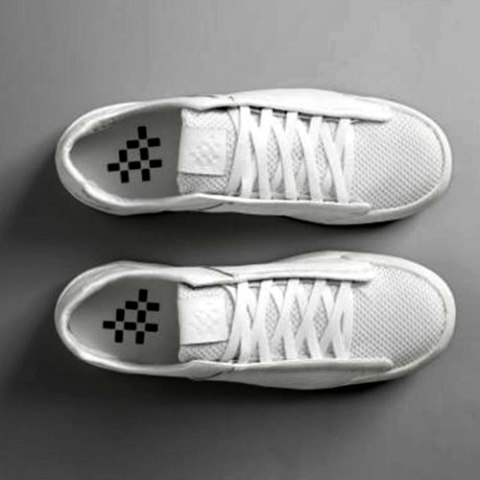 Sneakers Made from Carbon Dioxide (image via NRG): Rmoving & recycling pollutants is good for the planet