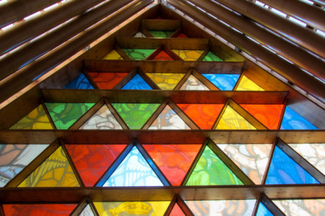 Anglican Cardboard Cathedral in Christchurch, New Zealand (Photo by Jocelyn Kinghorn/Creative Commons via Wikimedia)