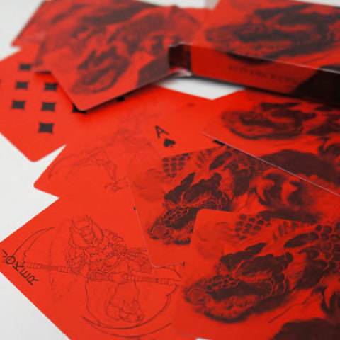 Red and Black Playing Cards