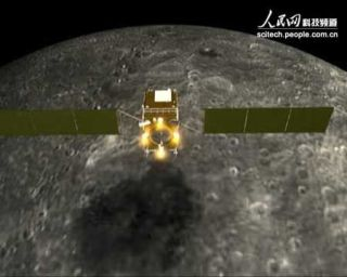 China's lunar probe crash, and artist's rendering