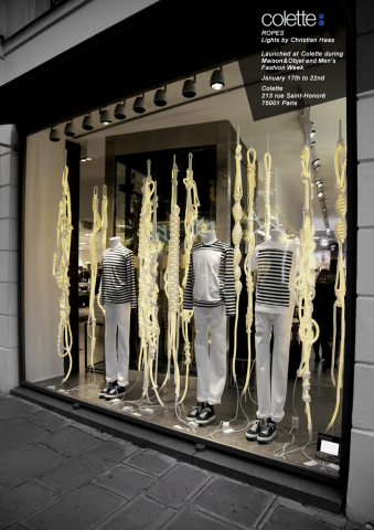 'Ropes' opening in the window of Colette, Paris in January, 2011: © Christian Haas