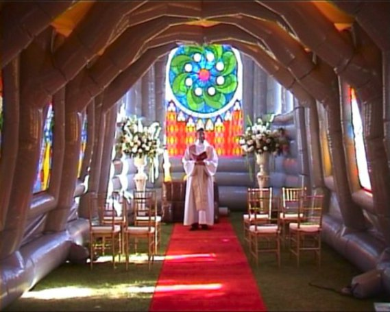 Inflatable Church (Image via Xtreme Inflatables)
