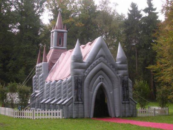 Inflatable Church (Image via Facebook)