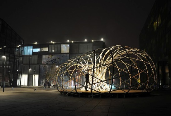 The Weaving Pavillion at Notch 10 Art & Culture Festival, Beijing: © David Garcia Studio, photographer Max Gerthel