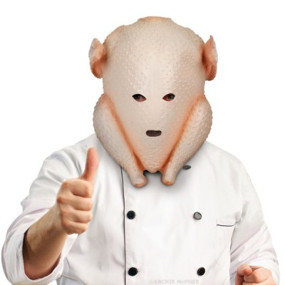 Clumsy Cook Turkey Mask: WTF Chef?: Gobble Gobble