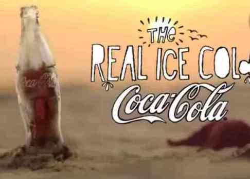 Coca-Cola Ice Bottle