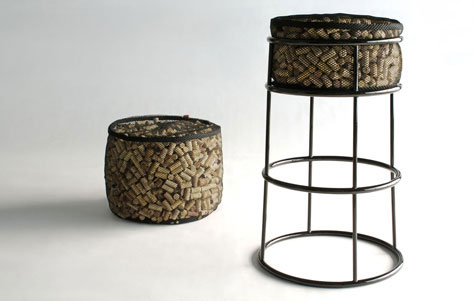 Life After Corkage Barstool and Ottoman: Phase Design