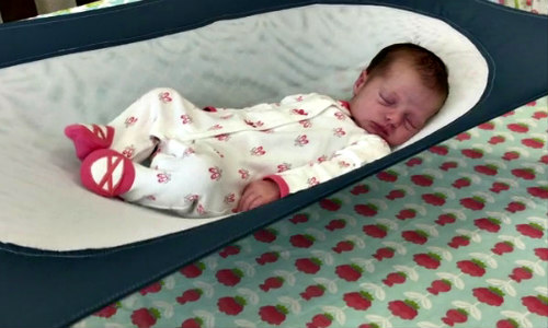 Crescent Womb Infant Safety Bed: Cradling bed helps keep infants on their backs (image via Crescent Womb)
